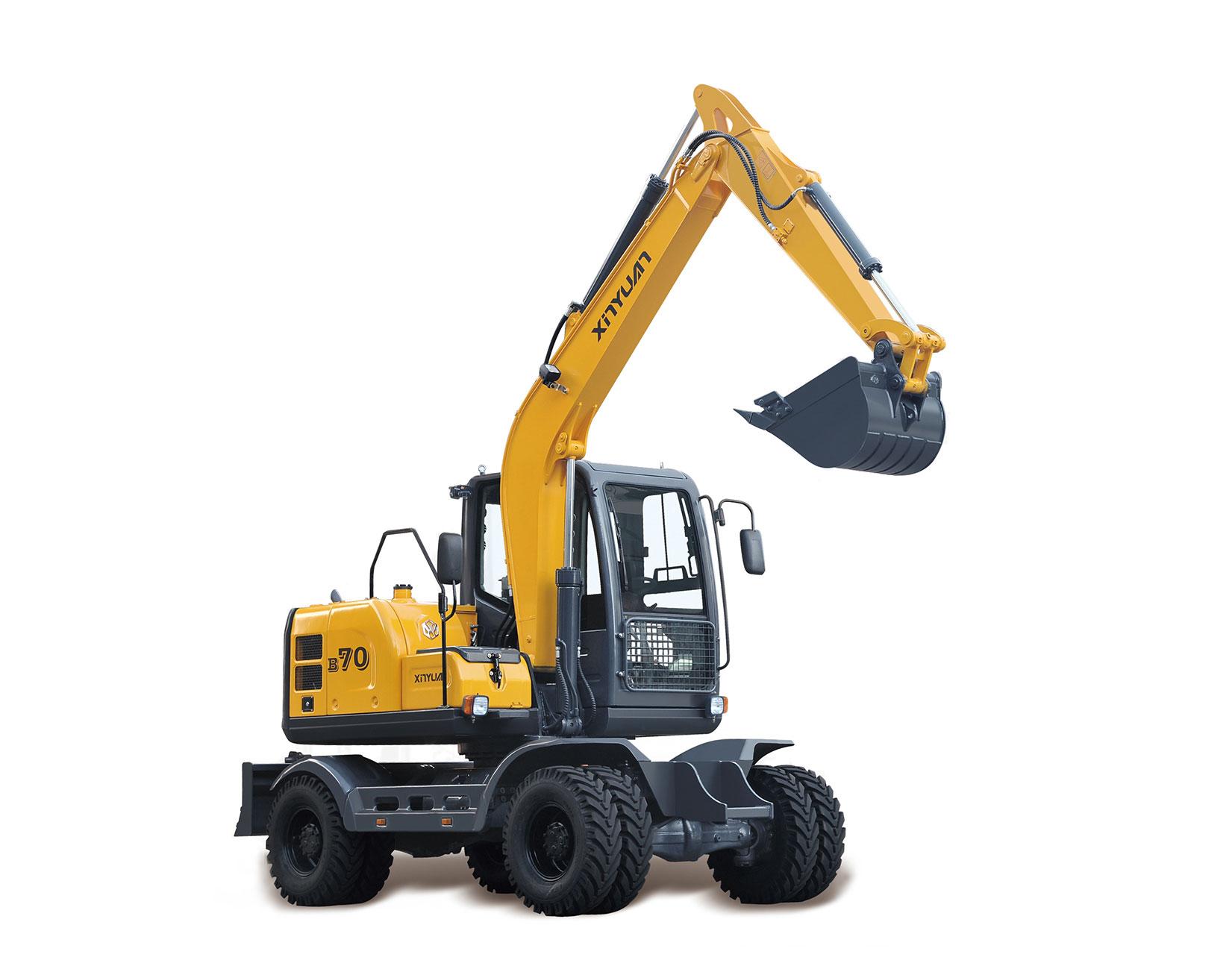轮胎式挖掘机