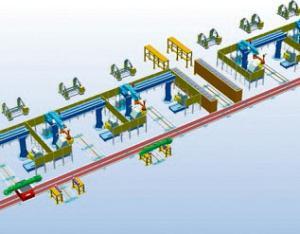 履带梁机器人焊接生产线