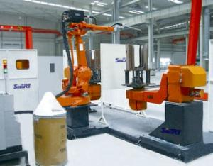 马达座及导向座机器人焊接系统