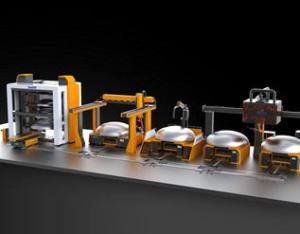 压力容器封头切割焊接生产线