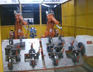三角臂总成机器人焊接系统