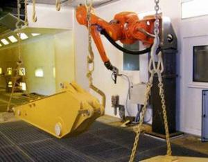 斗杆喷涂机器人系统