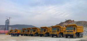 浙江立洋,再启新程---成为临工矿卡代理,首批10台MT95系列宽体车顺利交付。