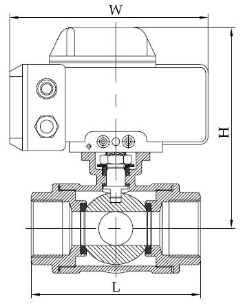 电动球阀|lq4p1fp16-d电动三通球阀|三通球阀_阀门_之图片