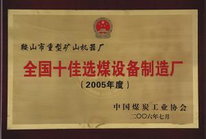 2005~2006年度十佳选煤设备制造厂