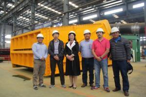鞍重股份南美秘鲁振动筛项目集港装船