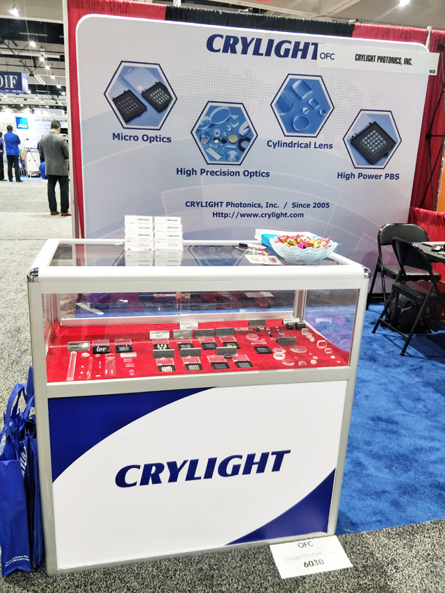 CRYLIGHT succeed in OFC2018 San Diego CA USA