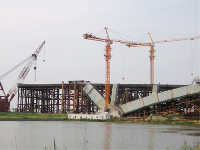 H7030B builds Mingzhou Bridge in Ningbo City