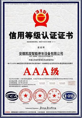 AAA Grade Credit Enterprise Certificate
