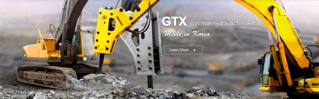 GTX Iron man hydraulic breaker