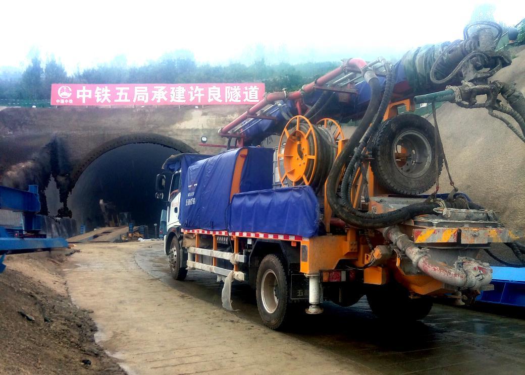 中铁五局郑万铁路许良隧道