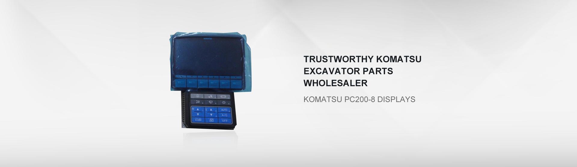 Komatsu PC200-8 displays