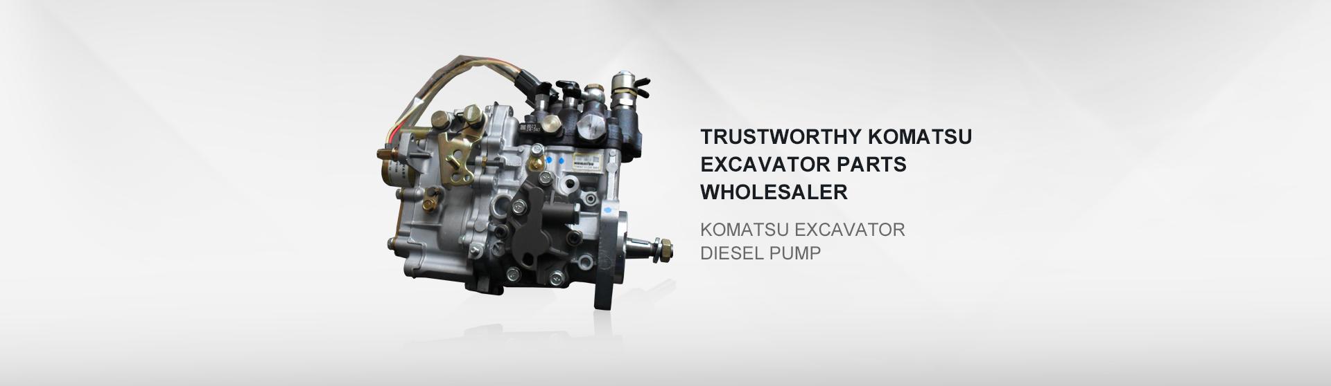 Komatsu excavator diesel pump